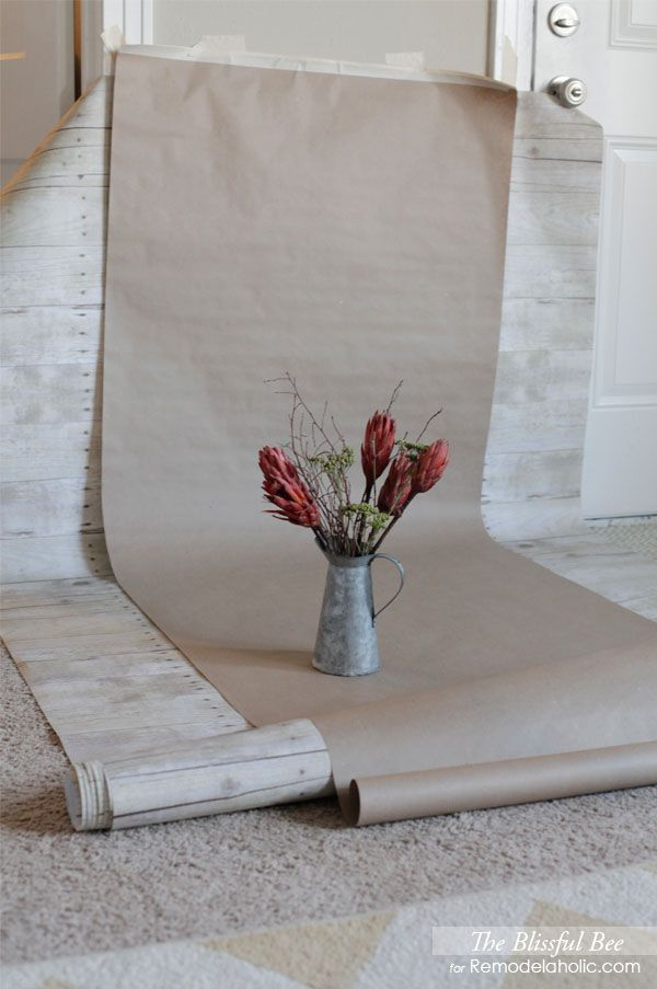 Using Paper Photography Backdrops remodelaholic.com #photography #tips #tutorials