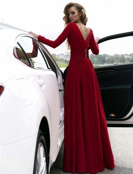b90352ceda Gorgeous Burgundy Long Prom Dresses