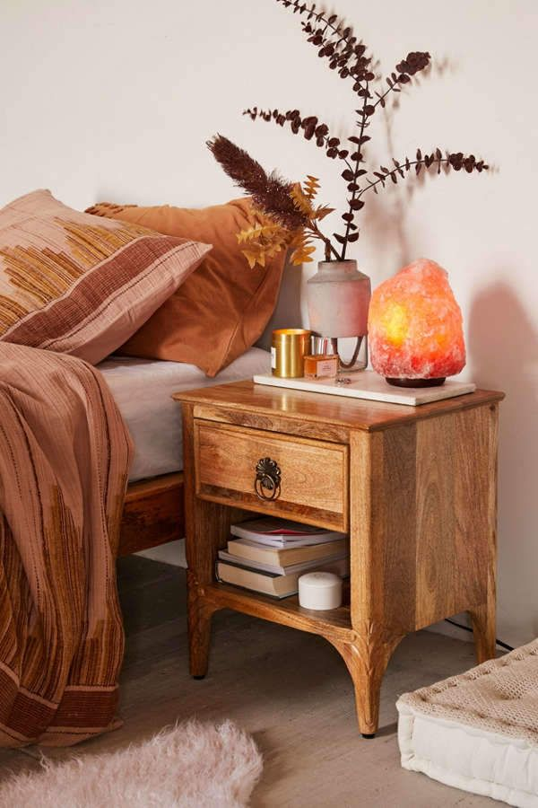 Andrea Carved Nightstand in 2019 | Crashing | Home Decor ...