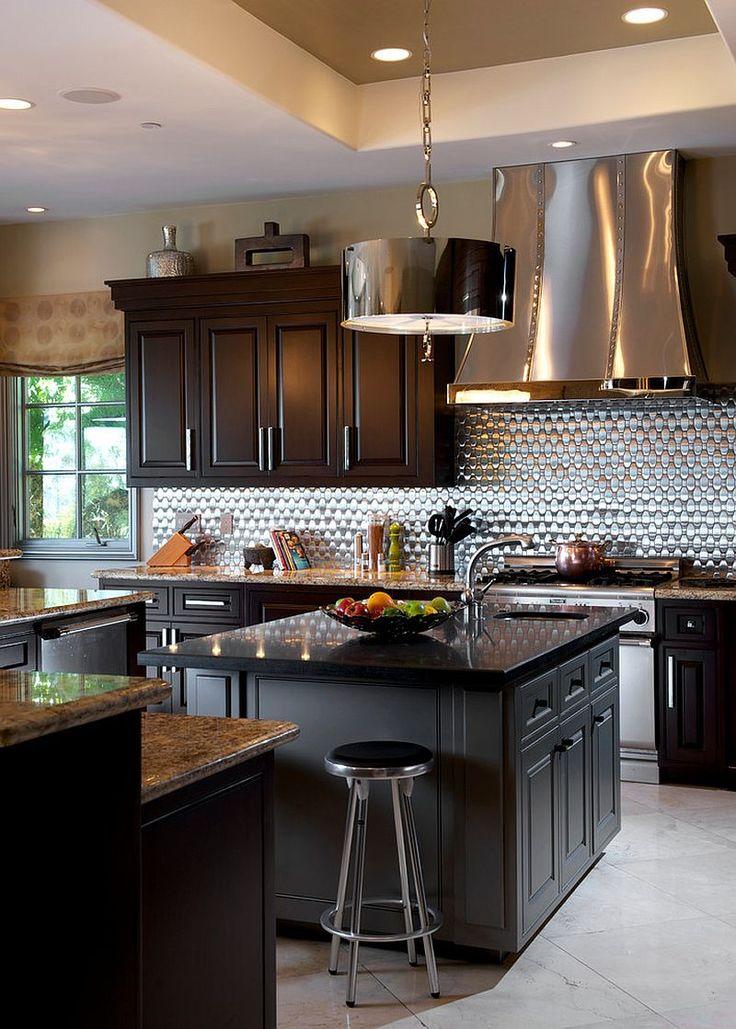 Stunning Kitchen Ideas cottage kitchen ideas stunning kitchen cottage kitchen ideas seoyek with regard to popular Stunning Kitchen With Bright Metallic Backsplash And Hood