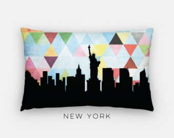 New York City skyline pillow | New York City pillow | New York skyline  pillow |