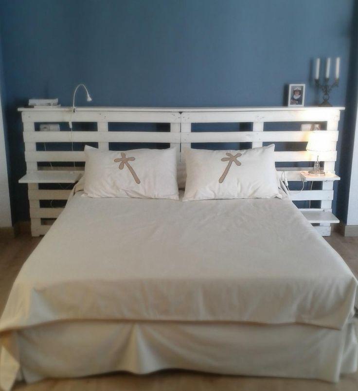 30 mejores im genes de cabeceros de cama con palets en - Cabeceros hechos con palets ...