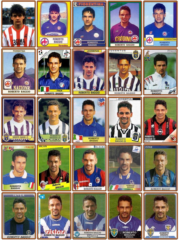 Old School Panini, Roberto BAGGIO                                                                                                                                                                                 Plus