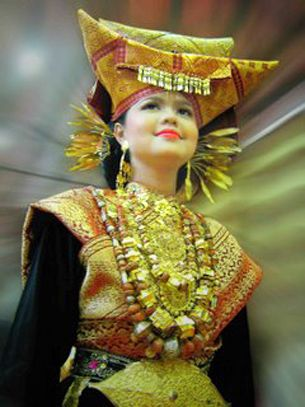 Traditional costume from West Sumatra, Indonesia