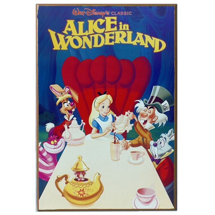 Amazon.com: Silver Buffalo AW0436 Disney Alice in Wonderland Tea Party Classic Movie Poster, 13 by 19-Inch: Posters & Prints