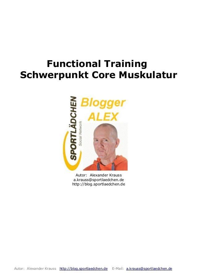 Functional Training Schwerpunkt Core Muskulatur  PDF Dokument