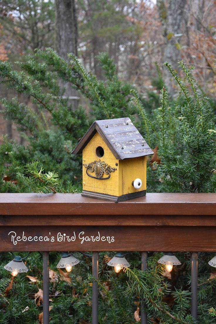 Rustic Birdhouse The Cabin Unique Birdhouse Wooden