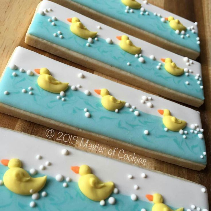 Master of Cookies:  Duck cookie sticks.   Ducks.  Too cute!