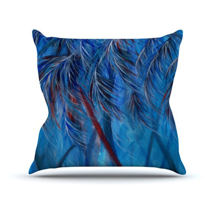 Kess InHouse Rosie Brown Tropical Indoor/Outdoor Throw Pillow - RB1009AOP02