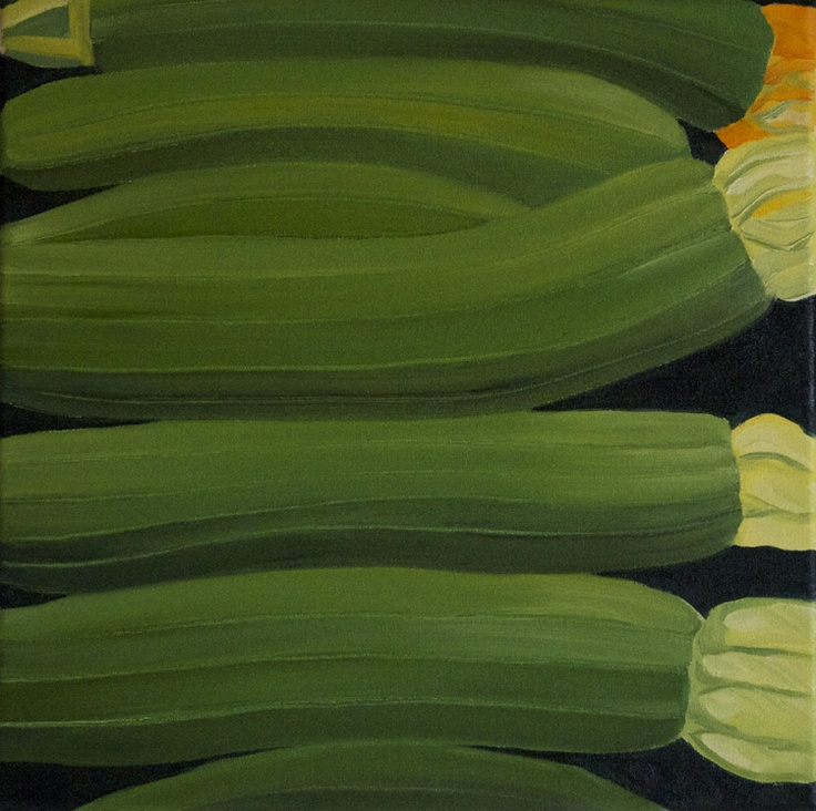'Courgettes' oil on canvas 300x300mm