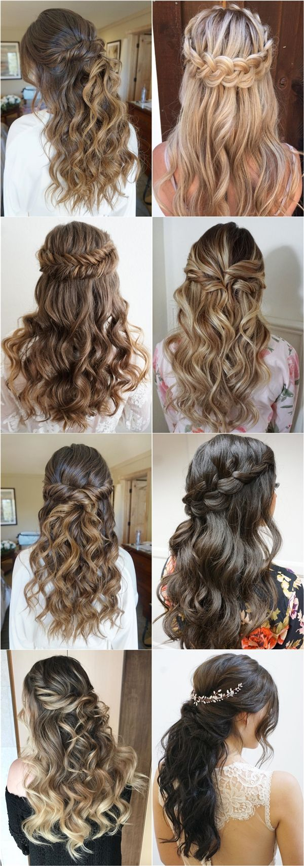 High 20 Half Up Half Down Marriage ceremony Hairstyles from Heidi Marie Garrett