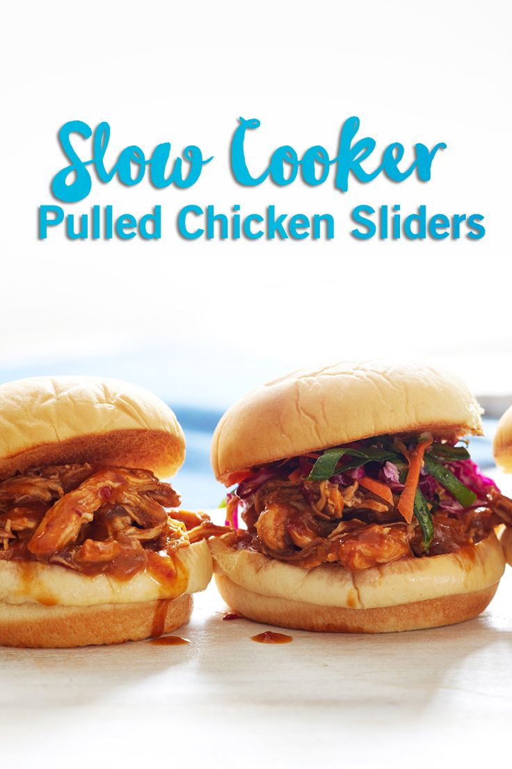 For football season or a kid-friendly dinner idea, these slow-cooker pulled chicken sliders are a delicious meal idea. With a great barbecue flavour (and a hint of peaches), they're sure to satisfy!