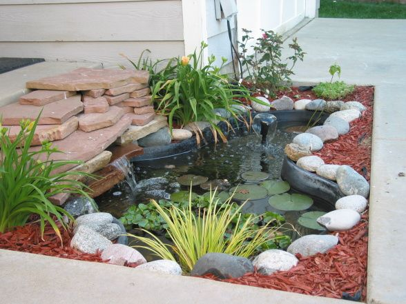 Ponds for landscaping in flat yard front yard pond ideas for Garden pond ideas for small gardens