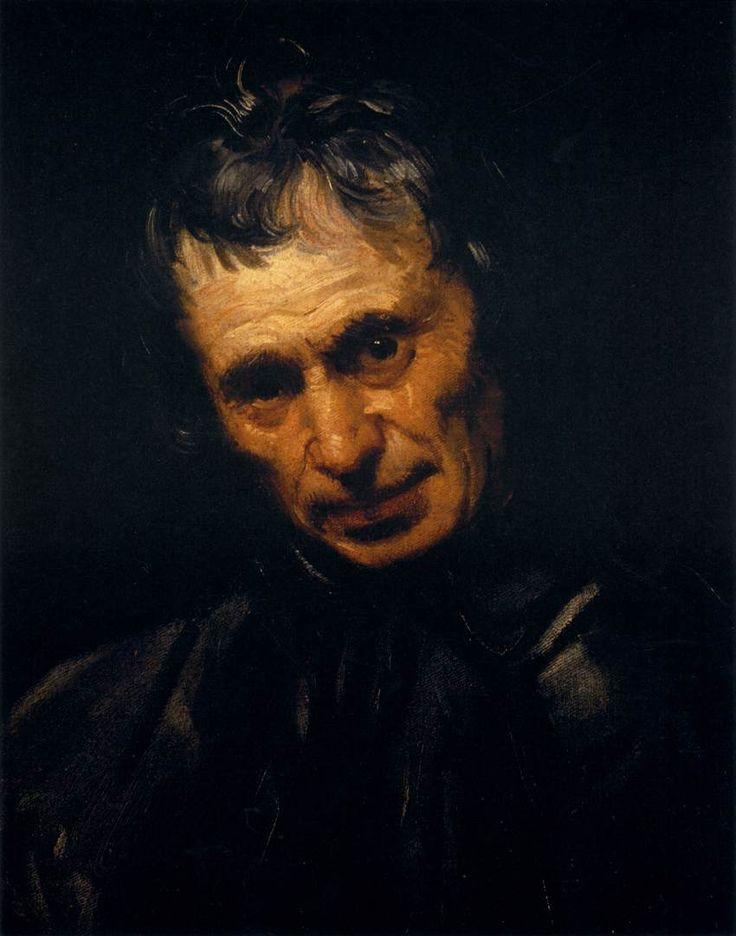 Annibale Carracci. Cabeza de un hombre, 1595. Óleo sobre lienzo. Palacio Pitti, Florencia.  WikiPaintings.org