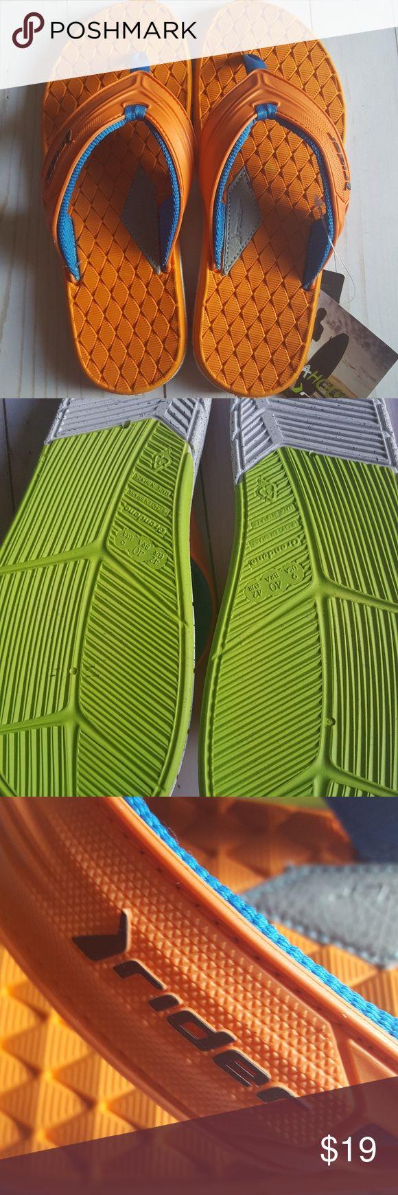 Rider Orange Men's Flip Flops Size 9 Rider, nwt Comfy fit Orange Mens size 9 Rider Shoes Sandals & Flip-Flops