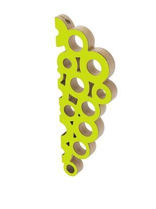 73% OFF Present Time Wooden Grape Bottle Holder (Lime Green)