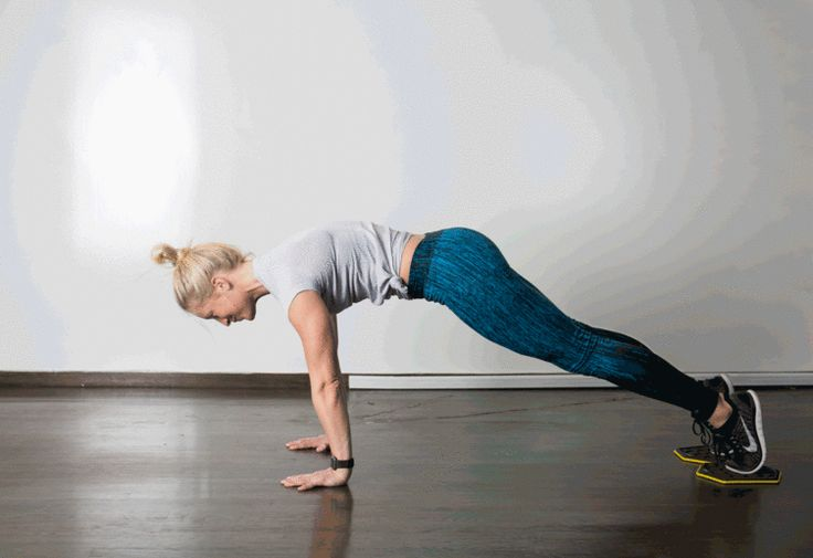 7. Slider Knee Tuck #abs #bodyweight #workout http://greatist.com/move/best-exercises-lower-abs?utm_source=pinterest&utm_medium=social&utm_campaign=onsiteshare Put some extra effort into the tough-to-target area with these highly effective moves.