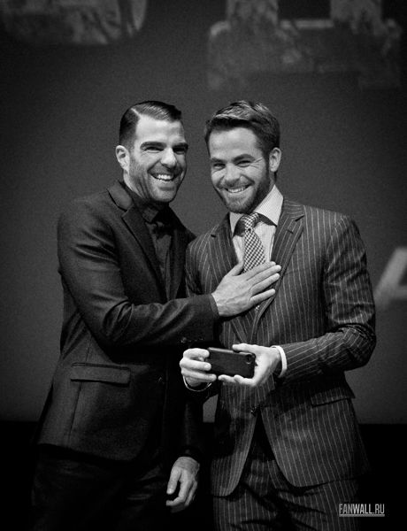 Chris Pine and Zachary Quinto - 04/25/2013 - Star Trek Into Darkness Premiere - Moscow, Russia