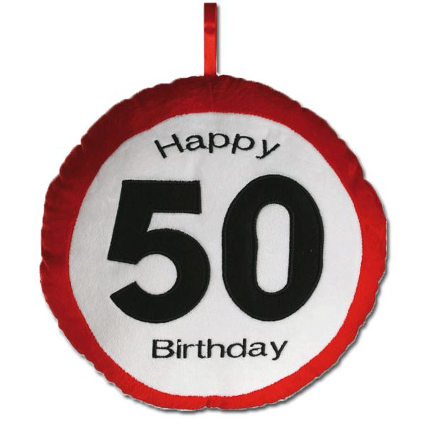 Kussen happy birthday 50 jaar