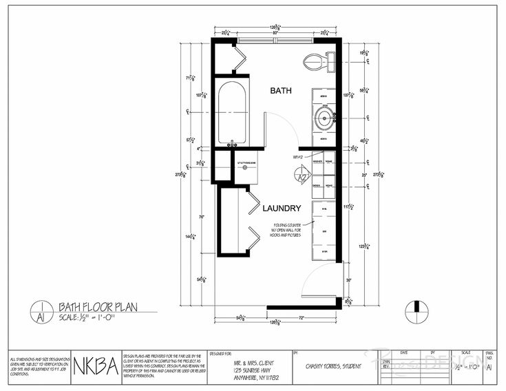 Bath laundry floor plan features full tub single sink for Laundry bathroom floor plans