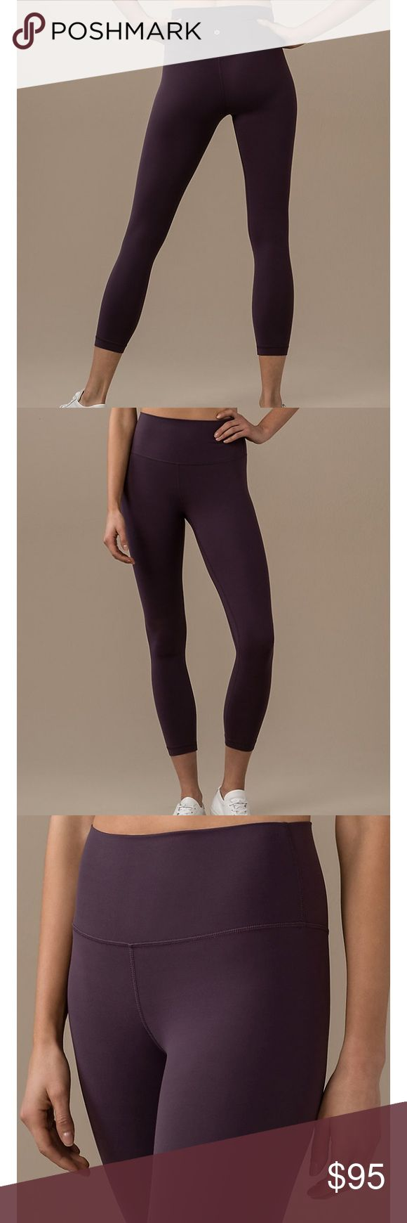 Lululemon Align II Pant in Black Currant SZ 4 No tags, worn only once (and washed per Lululemon fabric standards). They are in perfect condition, I've just decided I'm not crazy about the color on my skin tone. Sold out online. lululemon athletica Pants Leggings