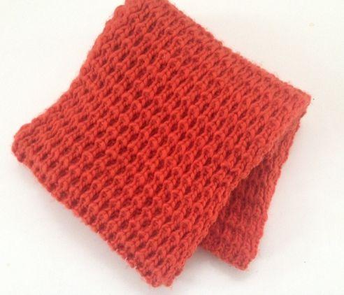 Lækkert tykt halstørklæde/rand i orange fra Hist