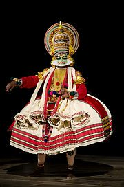 Kathakali- India dance /drama art Form  Kathakali (Malayalam: കഥകളി, kathakaḷi) is a stylized classical Indian dance-drama noted for the attractive make-up of characters, elaborate costumes, detailed gestures and well-defined body movements presented in tune with the anchor playback music and complementary percussion.