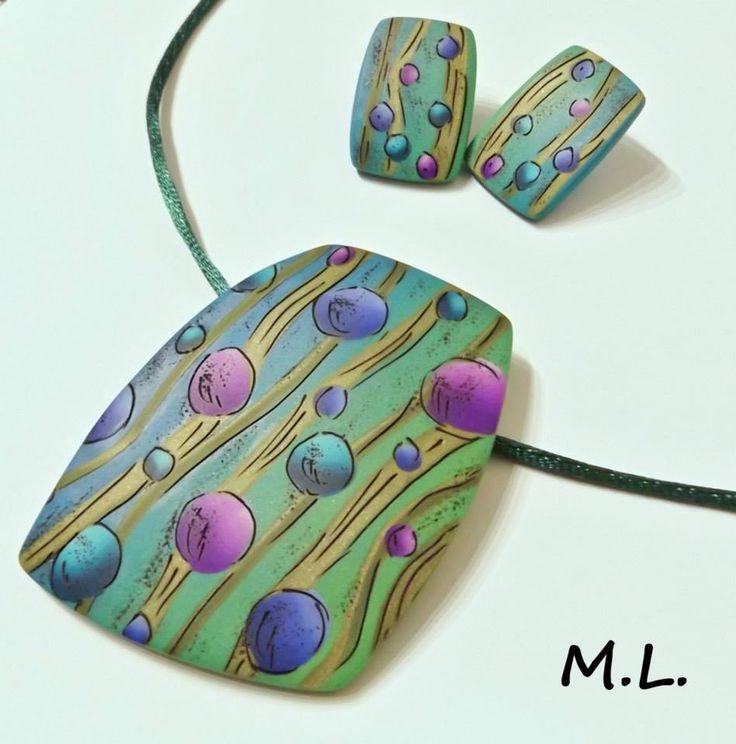 Marcela Lisíková - šperky z polymerové hmoty zdobené technikou podle Pavly Čepelíkové