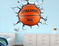 A Sports Fan - transitional - kids - other metro - by CHATHAM INTERIORS, INC.