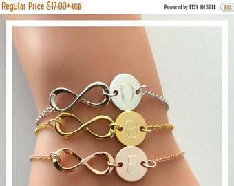 SALE Infinity Bracelet, personalized bracelet, eternity bracelet, girlfriend gift, bridesmaid gift, grandma gift, Mom Bracelet, gift for her