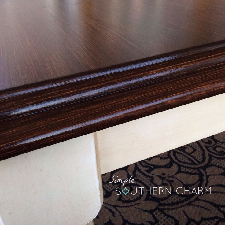 Learn how to paint, glaze and stain perfectly straight strokes and check out how I used General Finishes Java Gel Stain to refinish my kitchen table.