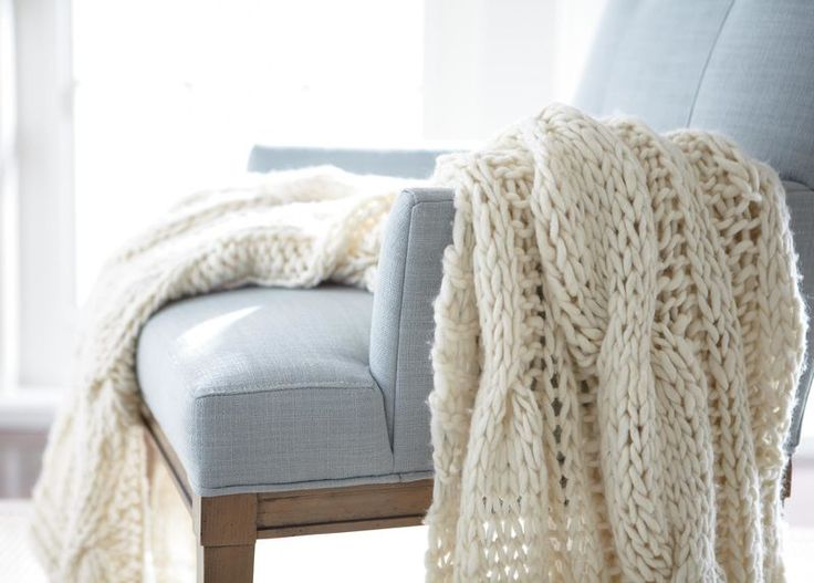 I know we said no crochet... But some like amazing cozy blankets! And we could display them on an old vintage ladder!