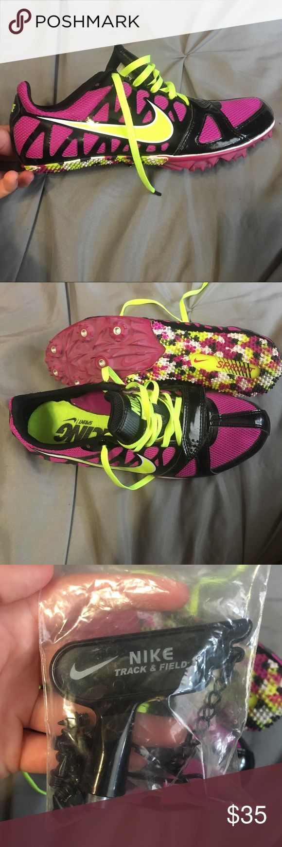 BRAND NEW track running shoes- NWOT These are neon brand new running shoes new without tags never worn --- super light weight Nike Shoes Sneakers