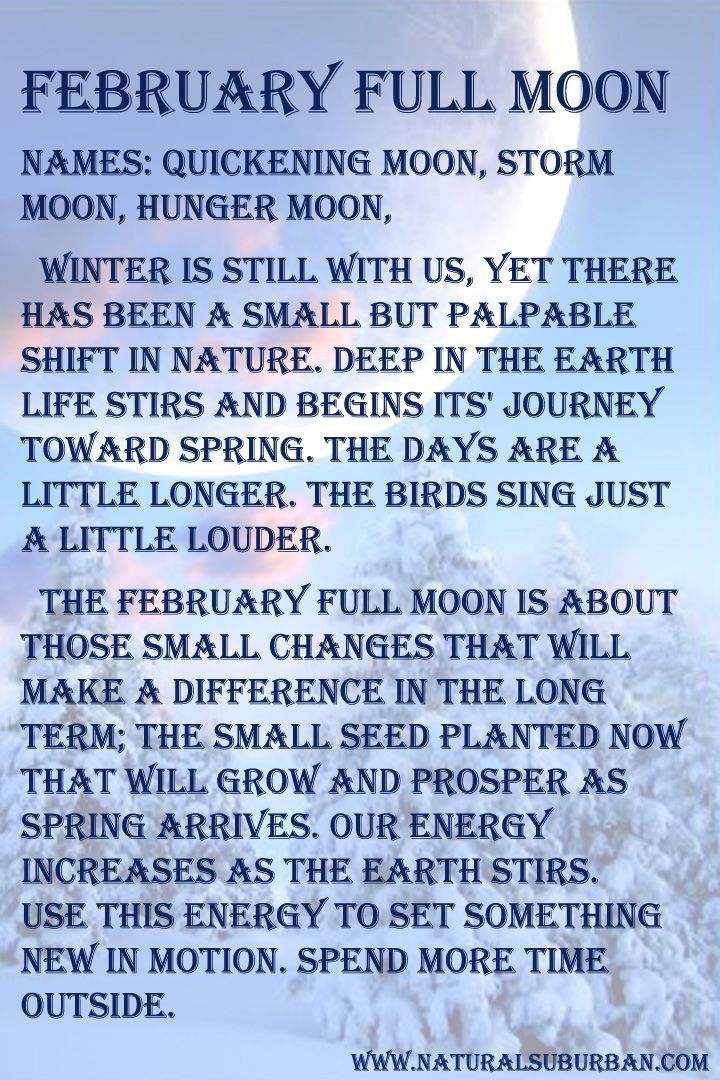 What February's full moon means to us on a personal level. Para el hemisferio sur esta es la luna llena de agosto