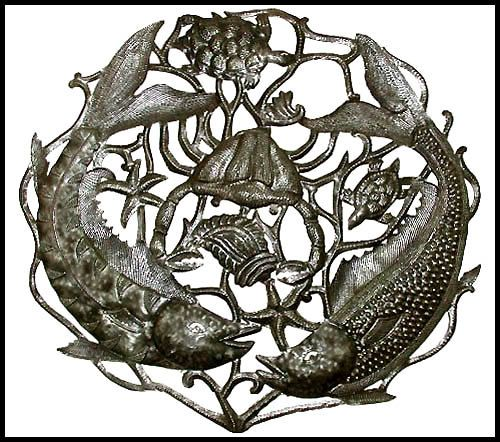 Fish Metal Wall Art 24 best haitian metal fish & sealife wall hangings images on