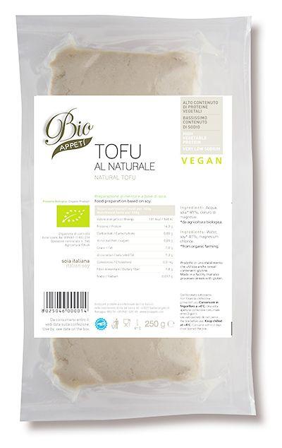 Tofu al naturale Alto contenuto di proteine vegetali  Preparazione alimentare a base di soia.