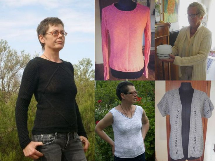 Stunning jumpers and cardigans in beautiful designs in aran-weight cotton or linen/cotton. Do-it-yourself - knitting patterns from domoras