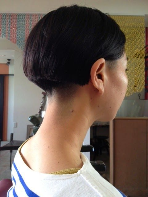 Are available? shaved her nape can not