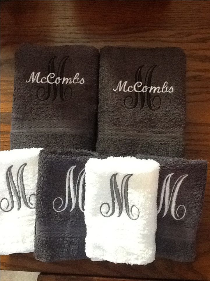Fancy Name and Initial Monogrammed towels by SewForChildren on Etsy