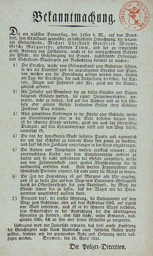 Bekanntmachung Bremen