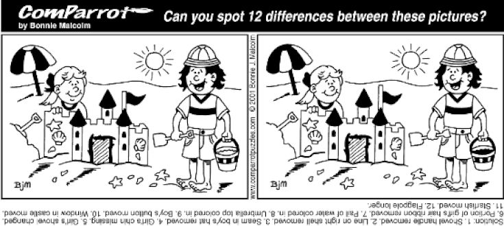 Puzzles Spot The Difference Puzzle Spot The Differences Spot The Difference Kids