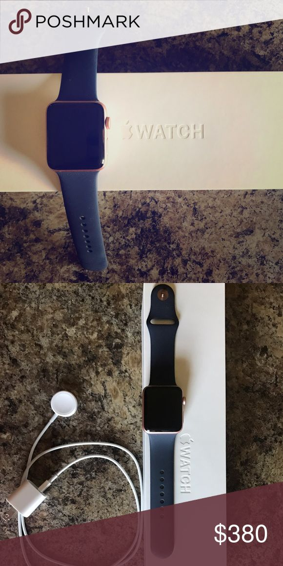 Apple Watch series 2 Rose gold with navy band 42mm, perfect condition, comes with everything included in the original packaging! Apple Accessories Watches