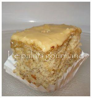 Le palais gourmand: Gâteau aux bananes, glaçage sucre à la crème