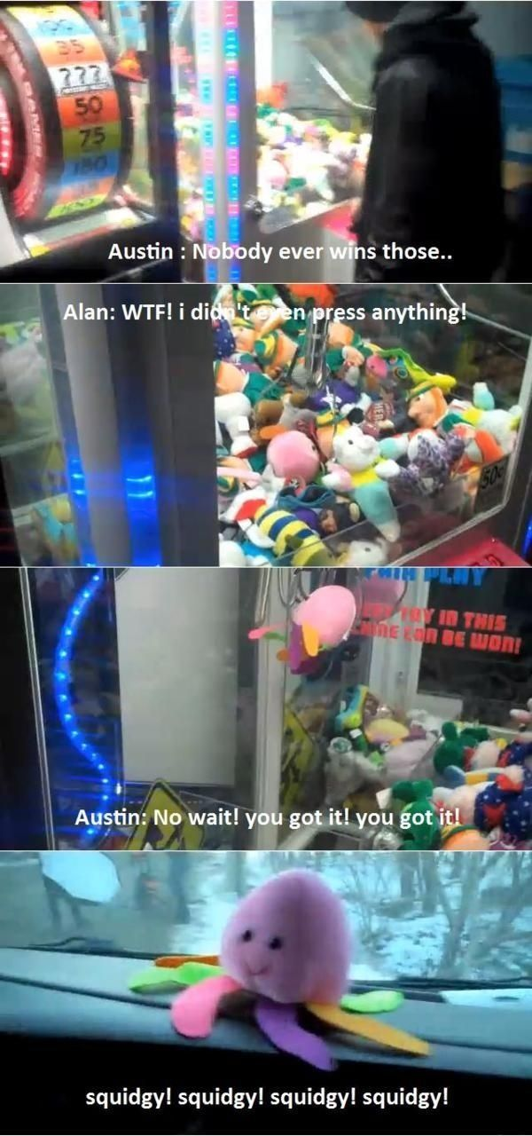 austin carlile squidgy | austin carlile Alan Ashby of mice and men om squidgy claw machine