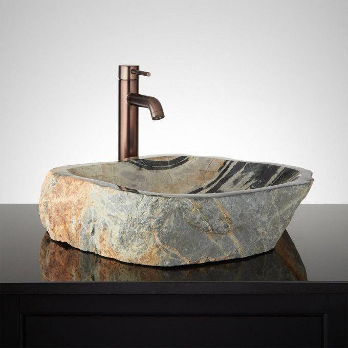 Alliconda Brown River Stone Vessel Sink Vessel Sinks Bathroom Sinks Bathroom Stonebathroomsink Stone Vessel Sinks Bathroom Sink Vessel Sinks