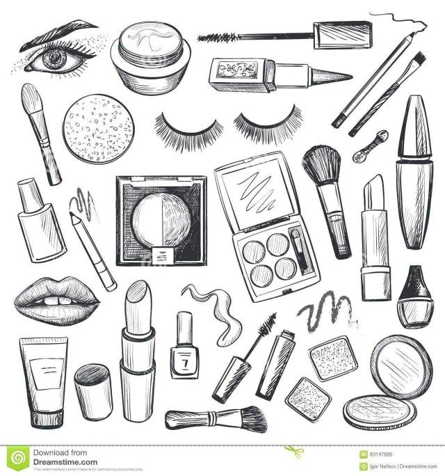 25 Excellent Photo Of Makeup Coloring Pages Entitlementtrap Com How To Draw Hands Makeup Icons Brush Tattoo