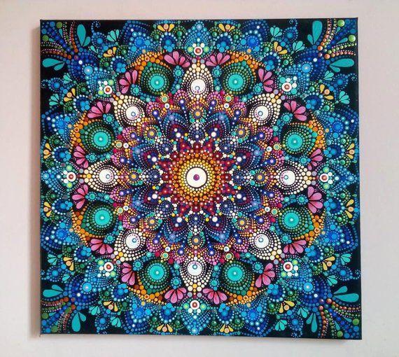 Dot Artwork Mandala Art Painting Acrylic Canvas Painting