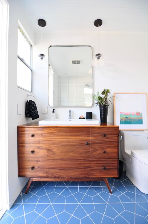 statement vanities are a very big thing in bathrooms right now rh pinterest com