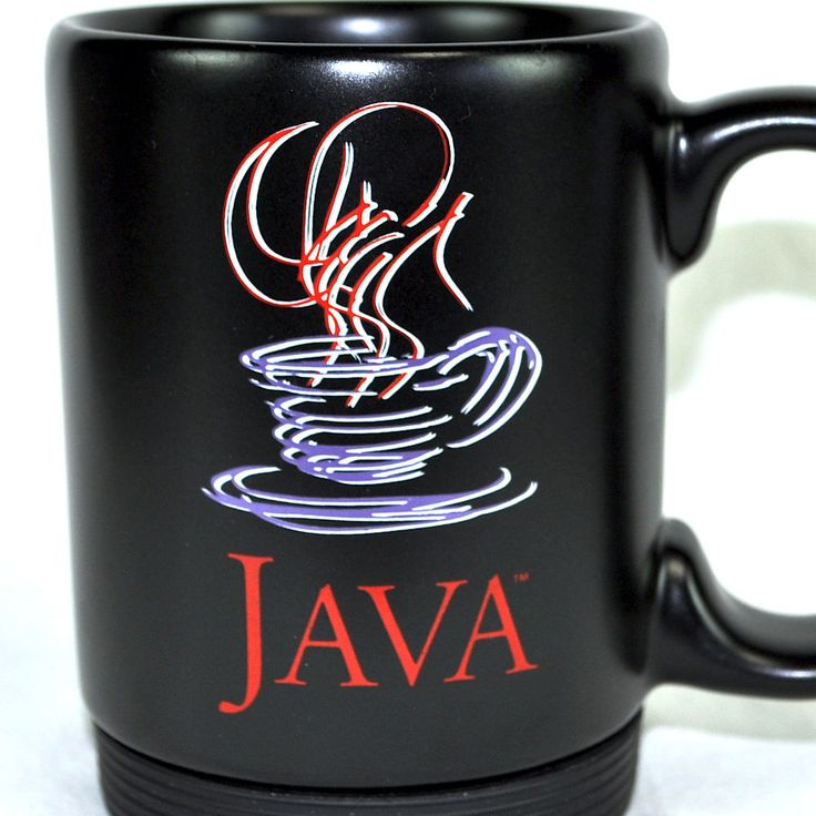 Java brewed sun micro black tall coffee mug tea cup new for Mug isotherme micro ondable