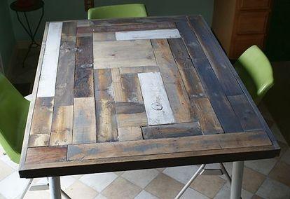 reclaimed wood table top resurface diy diy painted